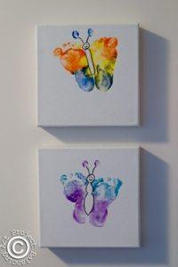 Cuadro huella pie mariposa