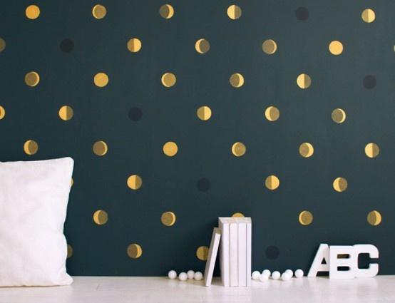 papel pintado lunares nios - Papel Pintado Lunares