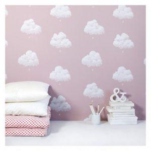 Papel pintado nubes niña