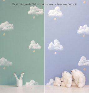 Papel pintado nubes niños