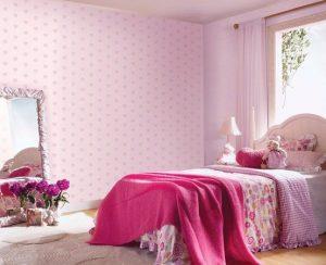 Papel pintado rosa bebé