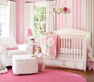 Papel pintado rosa niña