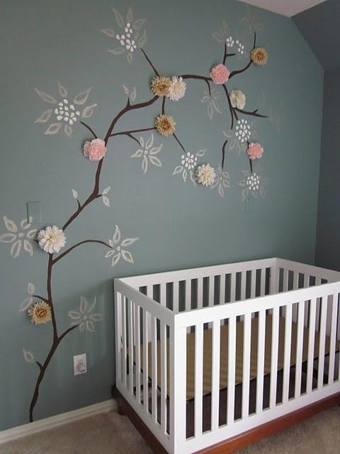 Pintura decorativa cuarto bebé | Decoración infantil