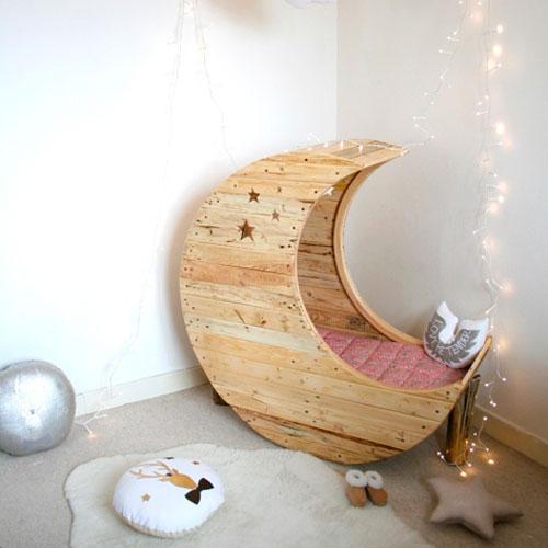 Mobiliario de bebé | Cuna de madera | Decoración infantil