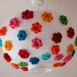 lamparas infantiles flores
