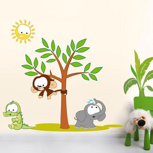 Vinilos infantiles animales de la selva decoraci n infantil for Vinilos infantiles animales